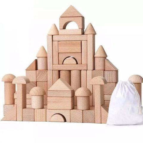 Image of Premium Assembling Wooden Blocks - Puzzle Toys