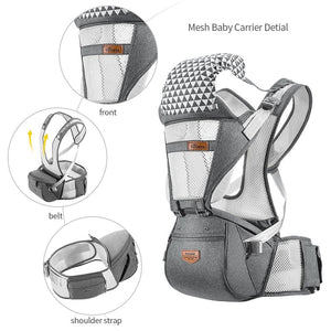 Ergonomic Baby Carrier with Waist Support 6 in 1