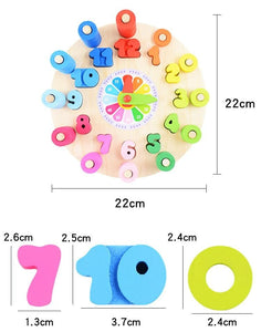 Montessori Early Education Math Clock Wooden Toy-Puzzle Toys
