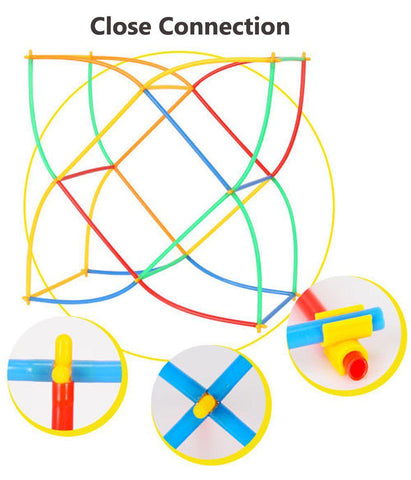Image of Connectivity of Straw Building Blocks Educational Toys - Puzzle Toys