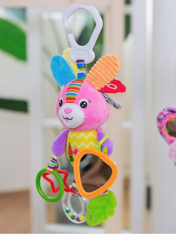 Image of Rattles Toys Stroller Soft Toy Cute Animal Doll Baby Crib Hanging Toys - Puzzle Toys