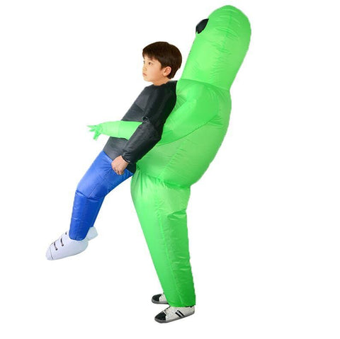 Image of Inflatable Green Alien Halloween Costume