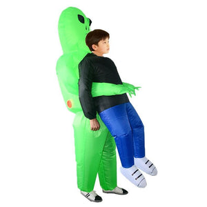 Inflatable Green Alien Halloween Costume