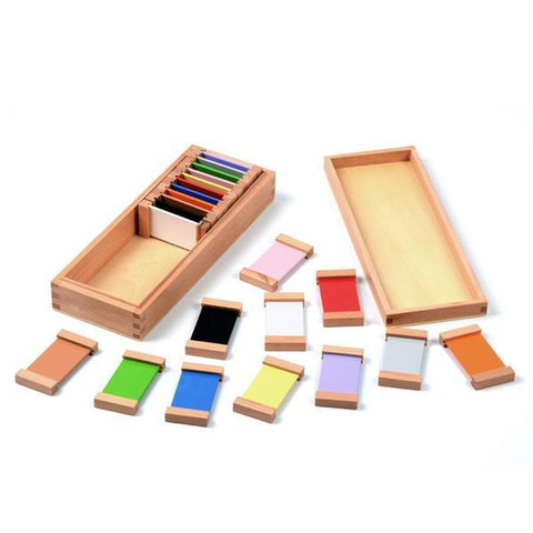 Image of Wooden Montessori Sensorial Colour Tablet 2nd Box-Puzzle Toys