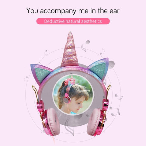 Image of Design Unicorn Headphone With Microphone