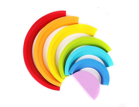 Wooden Curved Rainbow (7 bows)-Puzzle Toys