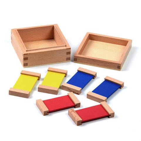 Image of Wooden Montessori Sensorial Colour Tablet 1st Box-Puzzle Toys