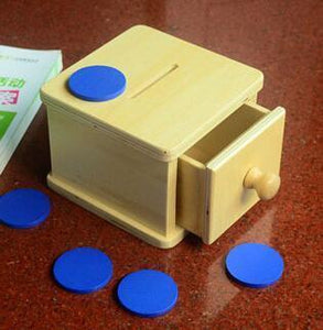 Drawer Box with Token-Puzzle Toys