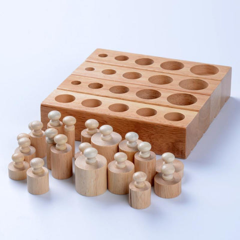Montessori Blocks Cylinders # 1, 2, 3 and 4-Puzzle Toys