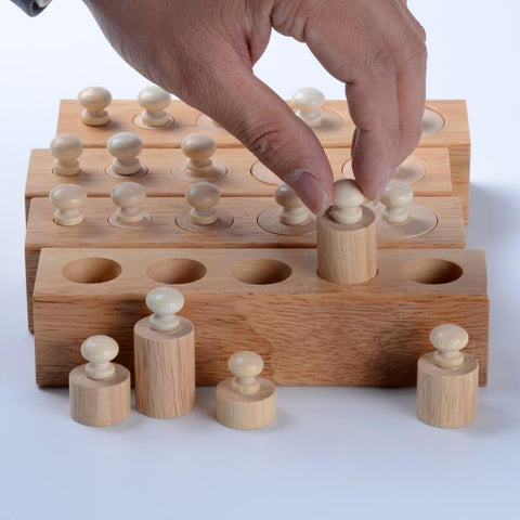 Image of Montessori Blocks Cylinders # 1, 2, 3 and 4-Puzzle Toys