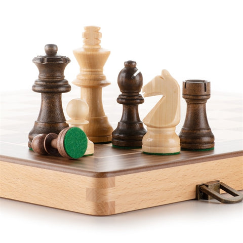 World-Chess Style Solid Wood Chess Set