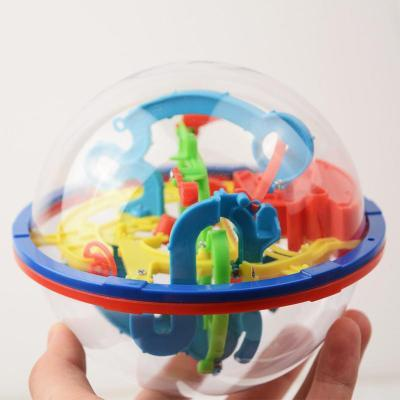 Image of Hand holding 100 steps 3d magic intellect maze ball-Puzzle Toys
