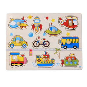 Early Childhood Hand Grasp Wooden Puzzle-Puzzle Toys