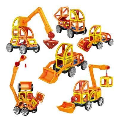 Image of Magnetic Building Blocks Vehicles-Puzzle Toys