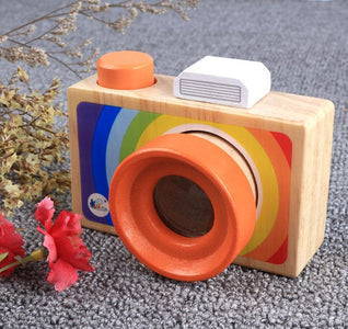 Kids Wooden Toys Simulation Camera Kaleidoscope-Puzzle Toys