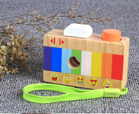 Image of Kids Wooden Toys Simulation Camera Kaleidoscope-Puzzle Toys