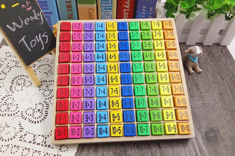 Image of Montessori Wooden Multiplication Table-Puzzle Toys
