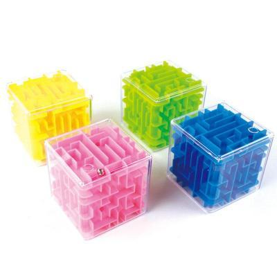 Image of No backgound 3D Cube Maze Toy Puzzle Game Brain Teaser Labyrinth Rolling Ball -Puzzle Toys
