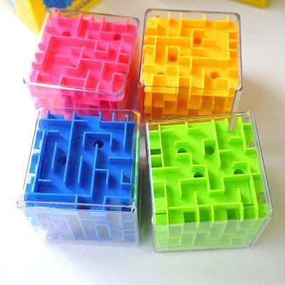 Image of 4 colour 3D Cube Maze-Puzzle Toys