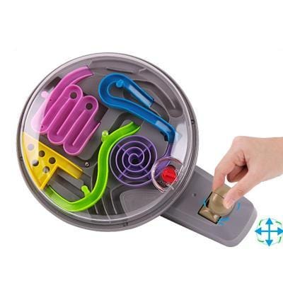 Image of Under use 3D Magic Intellect Ball Marble Puzzle Game Handle Maze-Puzzle Toys