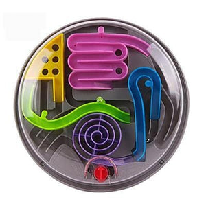 Case 3D Magic Intellect Ball Marble Puzzle Game Handle Maze-Puzzle Toys
