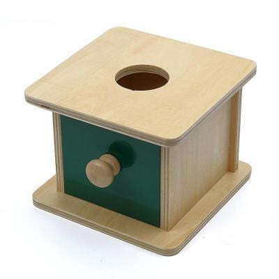 Image of Wooden Ball Drawer Box-Puzzle Toys