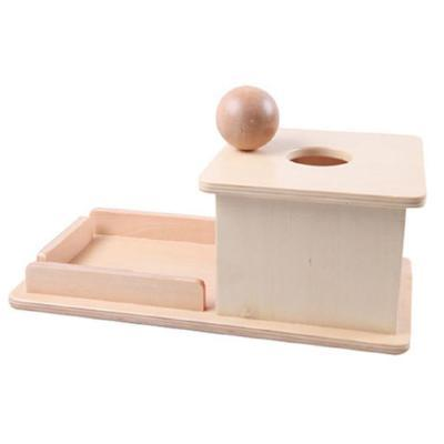 Image of Montessori Wooden Box with Ball-Puzzle Toys