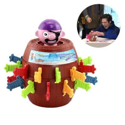 Pop Up Pirate Barrel Game-Puzzle Toys