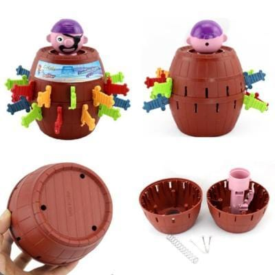 Image of Pop Up Pirate Barrel Game-Puzzle Toys