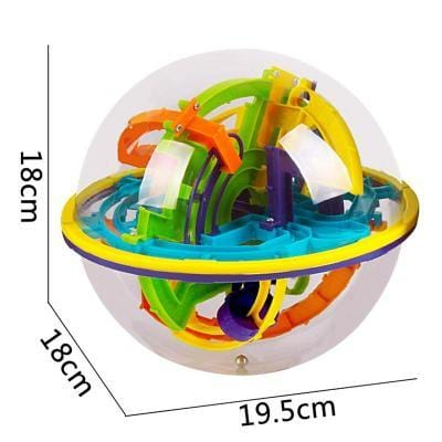 Image of Size 158 Steps 3D Magic Intellect Ball Marble Puzzle-Puzzle Toys