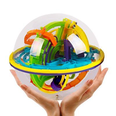 Image of Hand holding 158 Steps 3D Magic Intellect Ball Marble Puzzle-Puzzle Toys