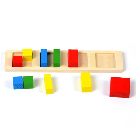 Montessori Math Toy Geometry and Fractions Puzzle-Puzzle Toys