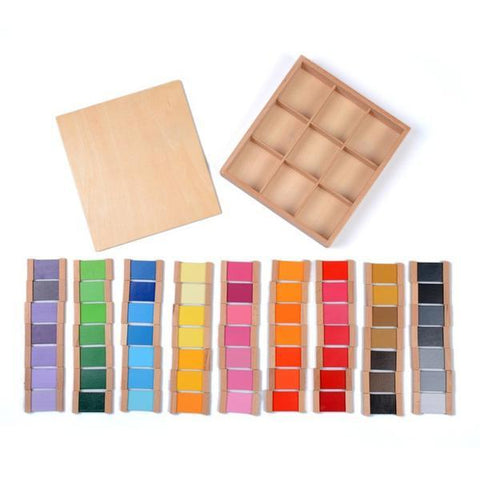 Wooden Montessori Sensorial Colour Tablet 3rd Box-Puzzle Toys