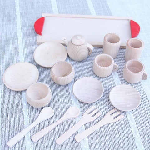 Image of Wooden Tea Set-Puzzle Toys
