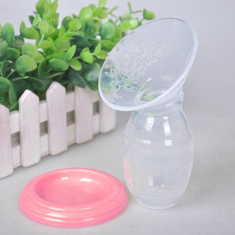Image of Silicone Manual Breast Pump Collector