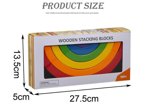 Wooden Rainbow (6 bows)-Puzzle Toys