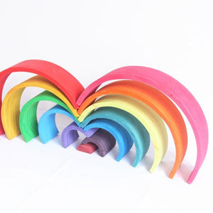 Large 12 Piece Rainbow-Puzzle Toys