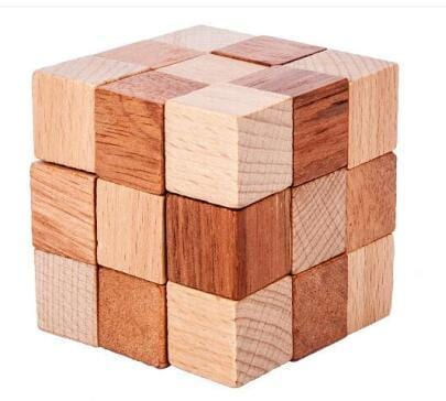 Image of 3D Wooden Interlocking Mechanical Puzzle Brain Teasers-Puzzle Toys