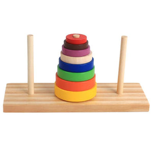 Wooden Hanoi Tower Game-Puzzle Toys