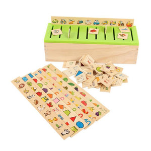 Montessori Wooden Classification Box-Puzzle Toys