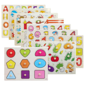 Early Educational Hand Grasp Wooden Puzzle