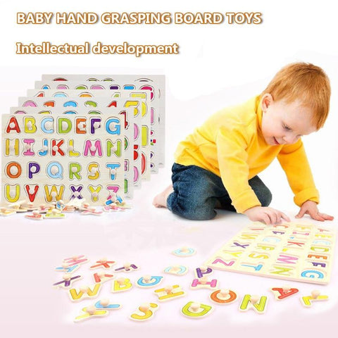 Image of Early Educational Hand Grasp Wooden Puzzle-Puzzle Toys
