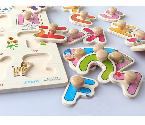 Early Educational Hand Grasp Wooden Puzzle-Puzzle Toys