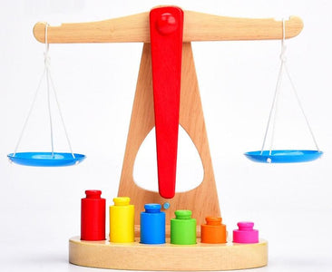 Wooden Balance Scale-Puzzle Toys