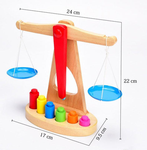 Image of Wooden Balance Scale-Puzzle Toys