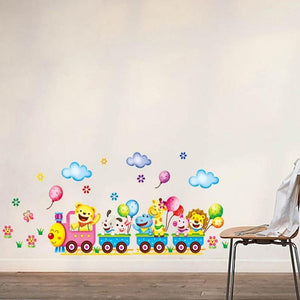 Train Wall Sticker Home Decor Nursery-Puzzle Toys