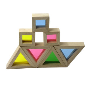 Rainbow Wooden Shapes Blocks