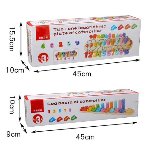 Image of Wooden Montessori Learning To Count Game-Puzzle Toys