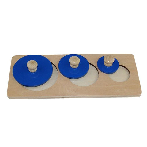 Image of Montessori Wooden Round Shape Toy-Puzzle Toys