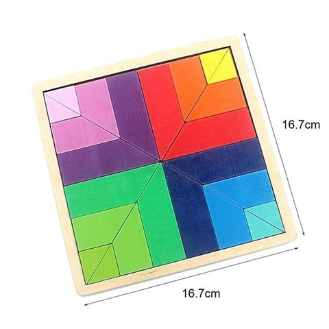 Image of Wooden Puzzle Palette-Puzzle Toys